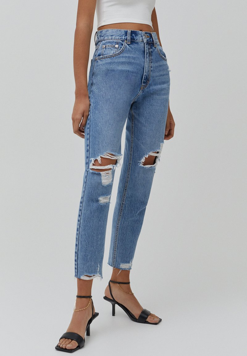 PULL&BEAR - MOM - Jeansy Relaxed Fit - light blue
