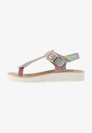ODYSSE - T-bar sandals - beige/multicolor