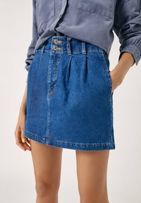 PULL&BEAR - Gonna di jeans - blue - 5