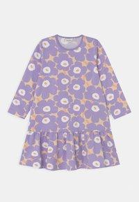 Marimekko - KULTARINTA MINI - Jersey dress - light yellowish/lavender - 0