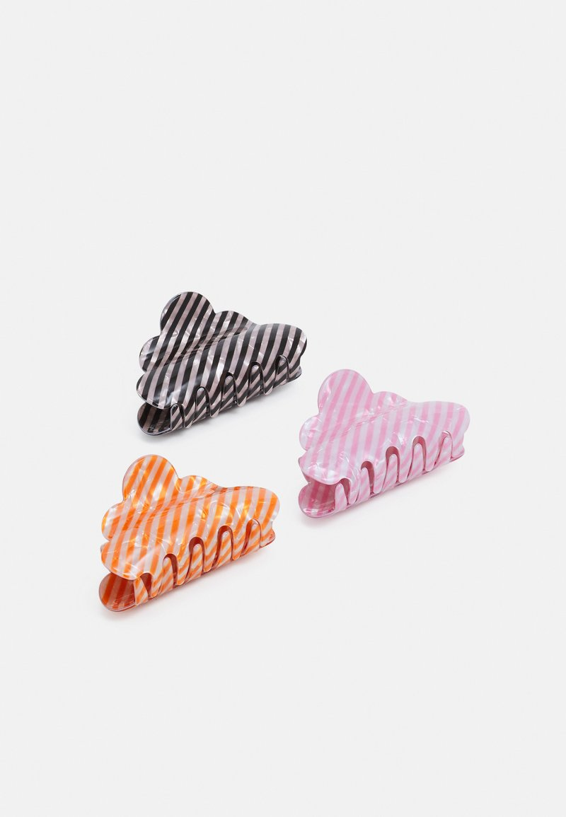 Pieces - PCJAMILLA HAIR SHARK 3 PACK - Hair styling accessory - black/orange pepper/tea rose