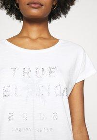 True Religion - BOXY CREW NECK PALM TREE  - Print T-shirt - blanc - 4