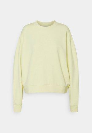 HUGE CROPPED - Sweatshirt - light yellow