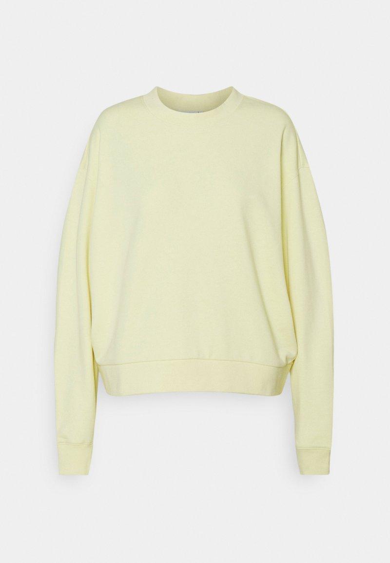 Weekday - HUGE CROPPED - Mikina - light yellow