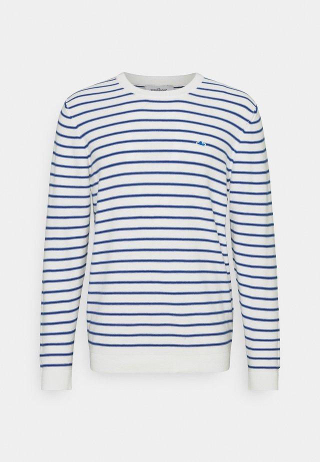 KENT - Maglione - white/blue