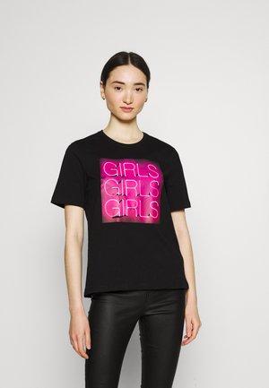 ONLCHLOE LIFE BOXY - Print T-shirt - black