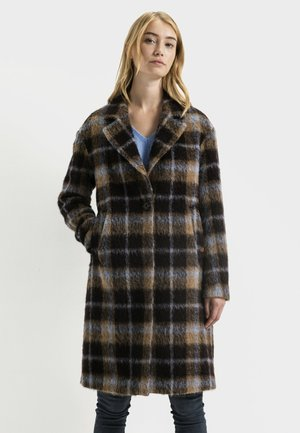 Classic coat - brown blue check