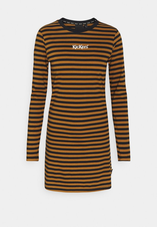 STRIPE RINGER DRESS - Vestito di maglina - brown