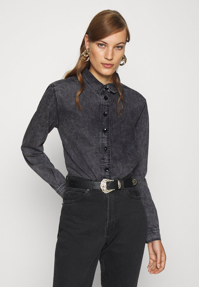 MAJKEN - Button-down blouse - black stone