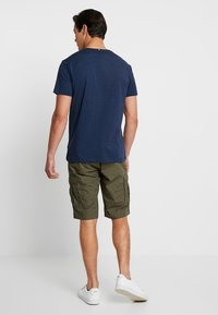 Esprit - FEATHER - T-shirt con stampa - navy - 2