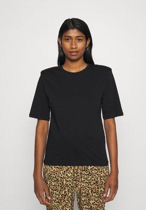 TARA SHOULDER PAD TEE - Basic T-shirt - black
