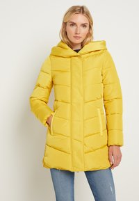TOM TAILOR - WINTERLY PUFFER COAT - Winter coat - california sand yellow - 0