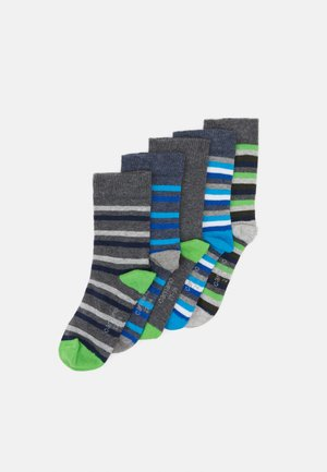 ONLINE CHILDREN SOCKS  5 PACK - Ponožky - dark grey melange