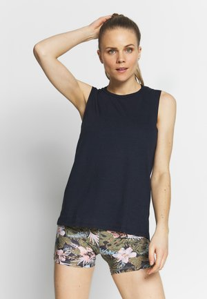 TWIST BACK MUSCLE TANK - Toppi - navy