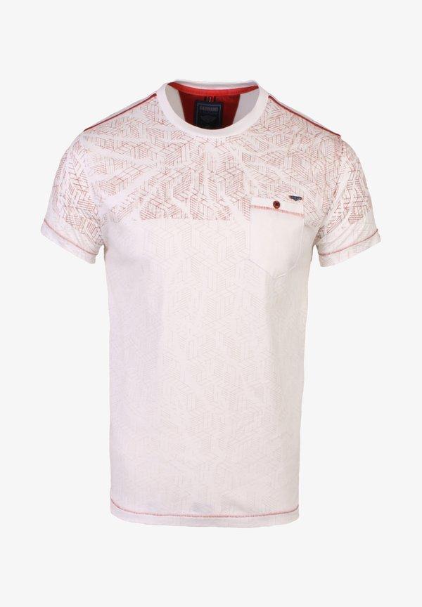 Gabbiano T-shirt z nadrukiem - ecru/beżowy Odzież Męska JRRN