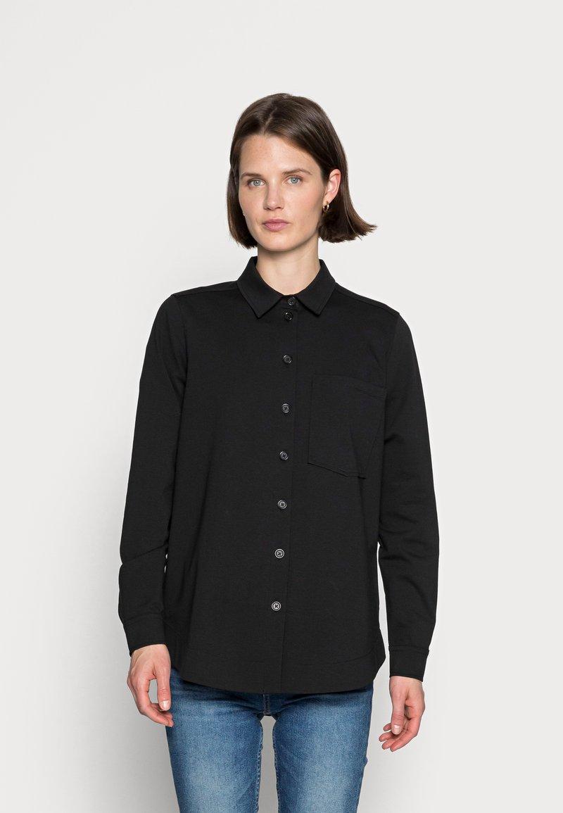 Marc O'Polo - OVERSHIRT LONG - Button-down blouse - black