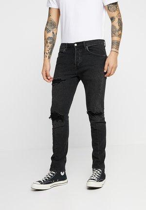 LEJ 512 SLIM TAPER - Slim fit jeans - black denim