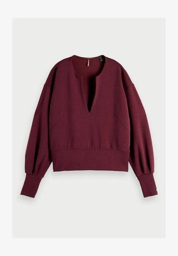 VOLUMINOUS SLEEVED - Sweater - plum