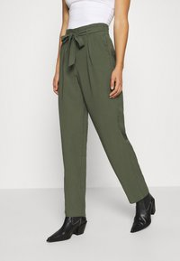 JDY - JDYSABINAHW BELT PANT - Trousers - deep depths - 0