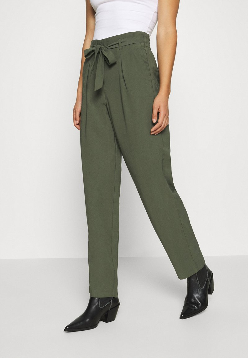 JDY - JDYSABINAHW BELT PANT - Trousers - deep depths