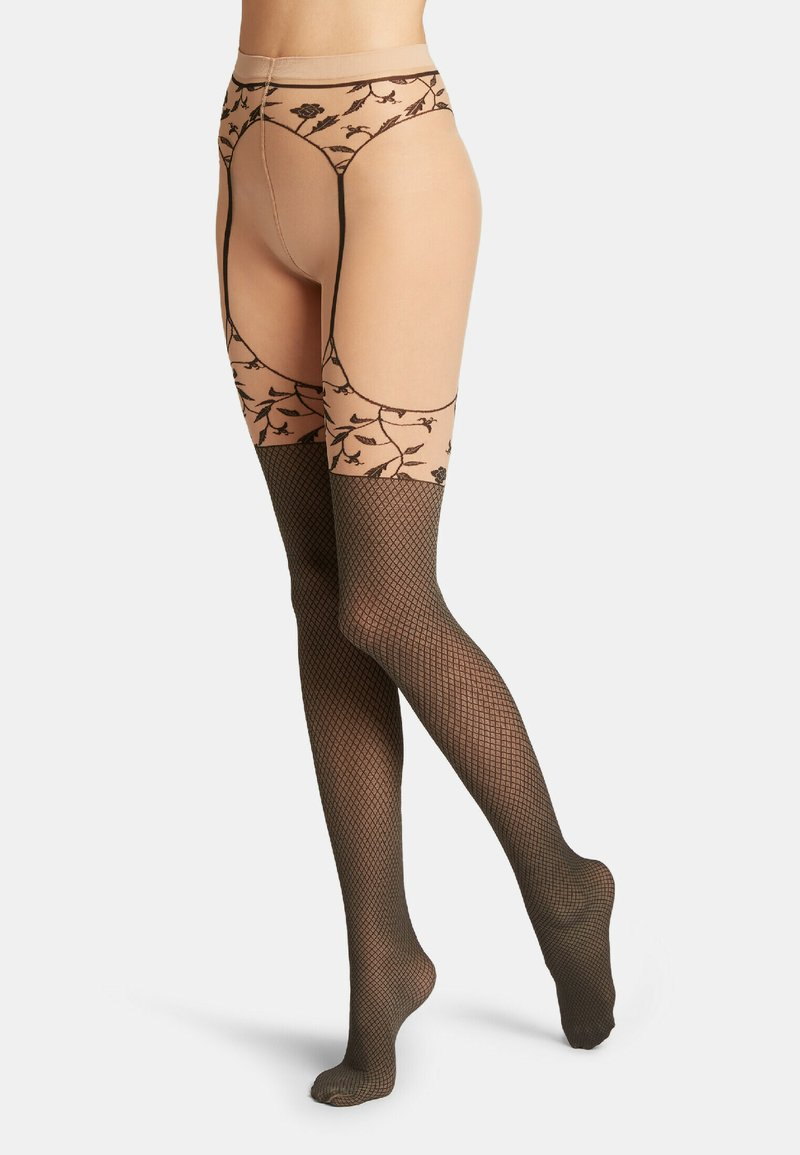Wolford - FLORA - Tights - fairly light/black