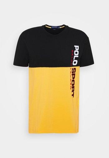SHORT SLEEVE - T-shirt con stampa - black/chrome yellow