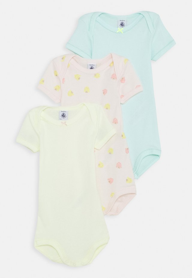 BABY 3 PACK - Body - pink/white/green