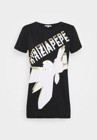 Patrizia Pepe - LOGO SHIRT - T-shirts med print - nero - 4