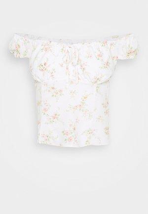 AMANDA SWEETHEART TIE FRONT - Bluser - apricot blush