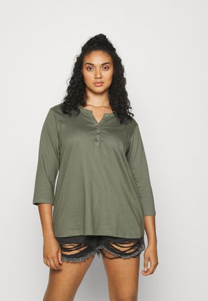XCILLE BLOUSE - Long sleeved top - agave green