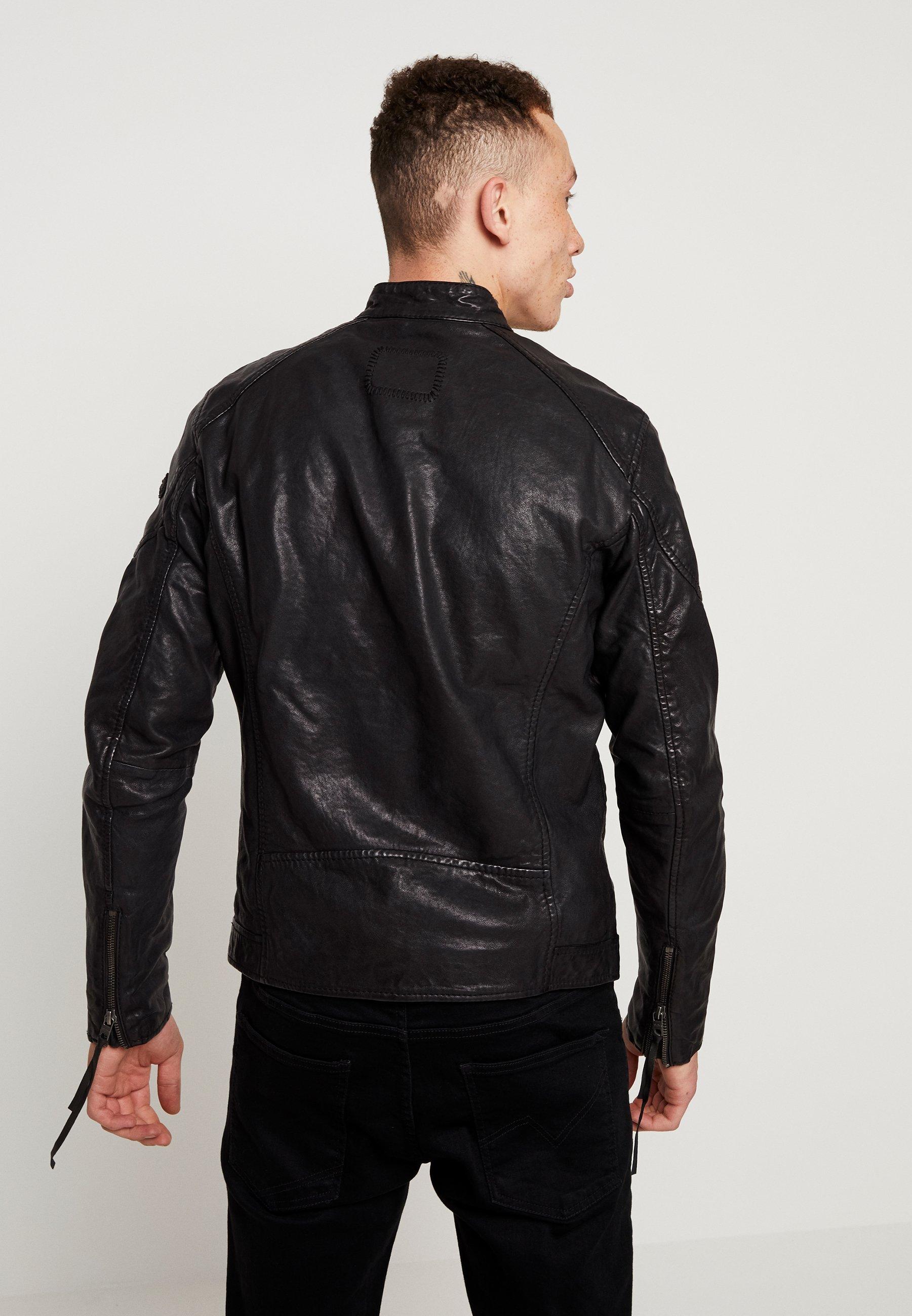 Tigha QUENTIN Leren jas black Zalando.nl