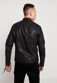 Tigha - QUENTIN - Veste en cuir - black - 2