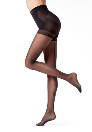 TOTAL SHAPER STRUMPFHOSE MIT NAHT - Tights - riga dietro nero