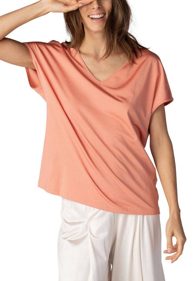 MIT V-AUSSCHNITT - Pyjama top - orange
