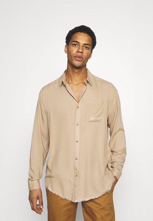 FRAYED PLAIN UNISEX - Camicia - light brown