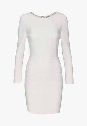 ICON LONG SLEEVE DRESS - Shift dress - alabaster