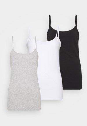3 PACK - Top - black/white