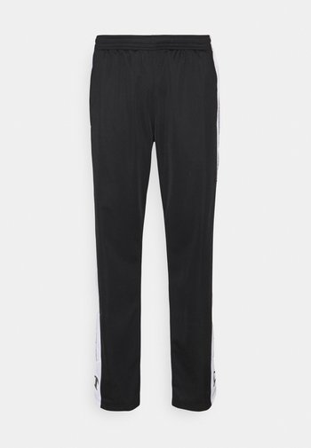 STRAIGHT HEM PANTS - Verryttelyhousut - black/white