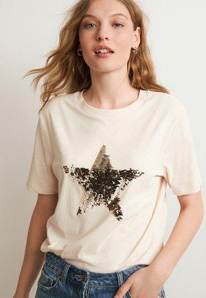 SEQUIN STAR - Print T-shirt - light pink