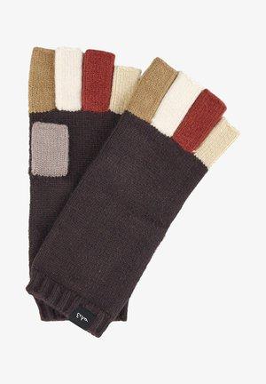 Fingerless gloves - brown