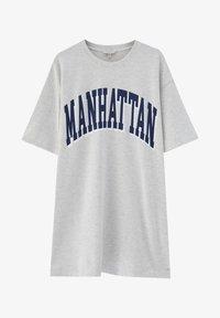 PULL&BEAR - Print T-shirt - light grey - 4