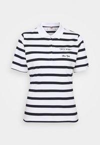 Tommy Hilfiger - REGULAR SCRIPT STRIPED - Print T-shirt - cabana/white - 0