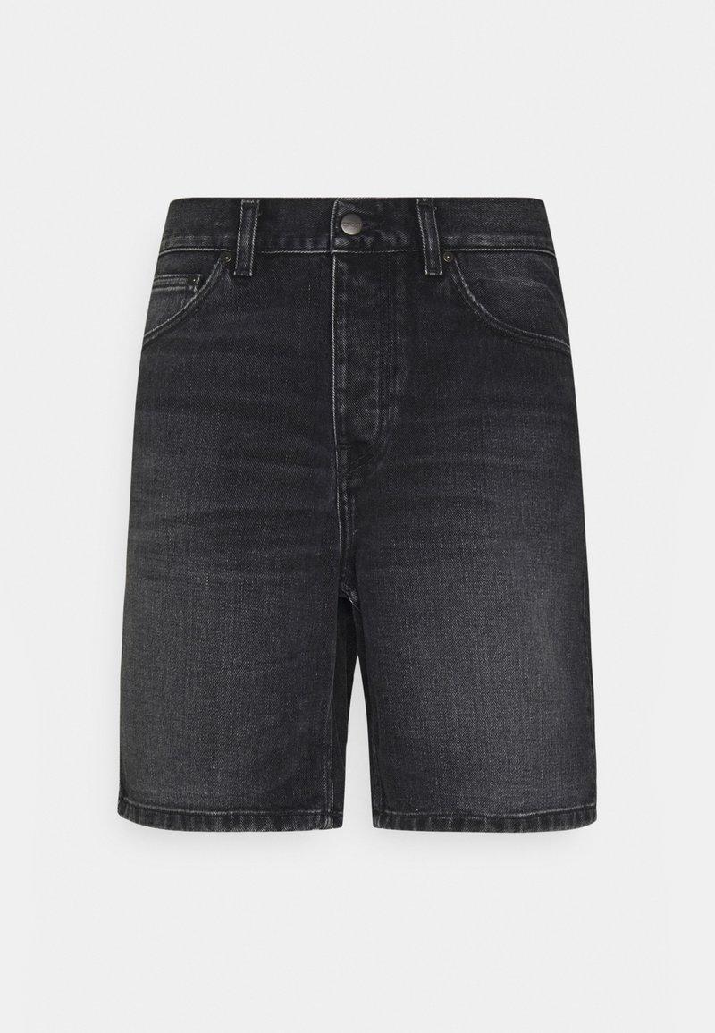 Carhartt WIP - NEWEL MAITLAND - Denim shorts - black mid worn wash