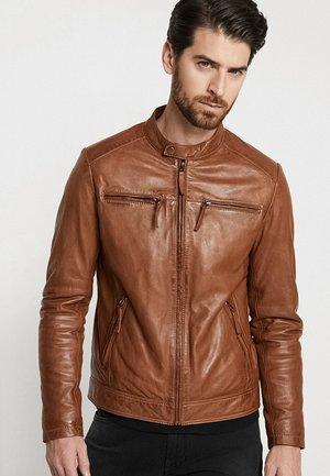 TONIC - Kožená bunda - cognac