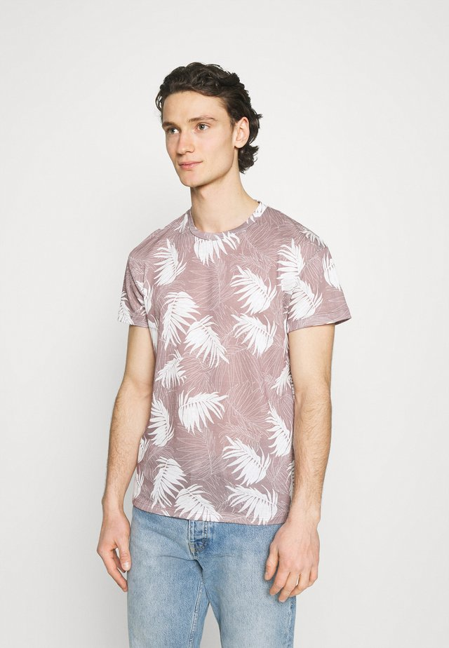 JPRBLABAKER TEE CREW NECK - T-shirt med print - soft pink