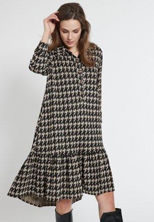 EMESA - Shirt dress - black, beige