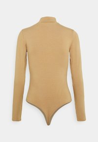 NU-IN - BAMBOO HIGH NECK BODYSUIT - Long sleeved top - camel - 1