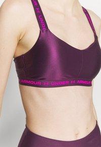 Under Armour - CROSSBACK LOW SHINE - Light support sports bra - polaris purple - 3