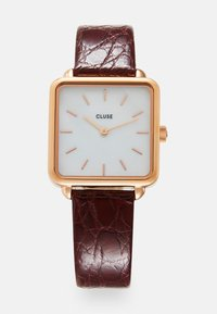 Cluse - LA TÉTRAGONE - Klokke - rose gold-coloured/white pearl/dark red - 0