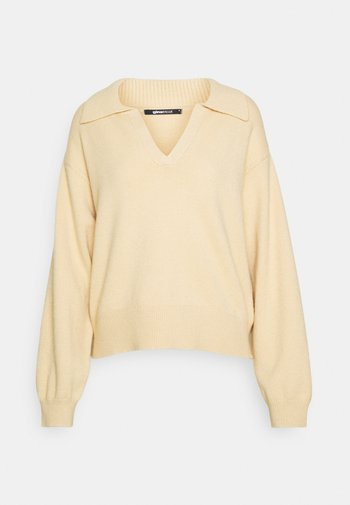 FREYA - Strikkegenser - beige